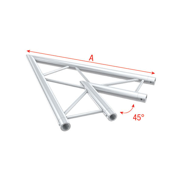 Showtec Corner 45 Deg Horizontal Pro 30 Step G Truss
