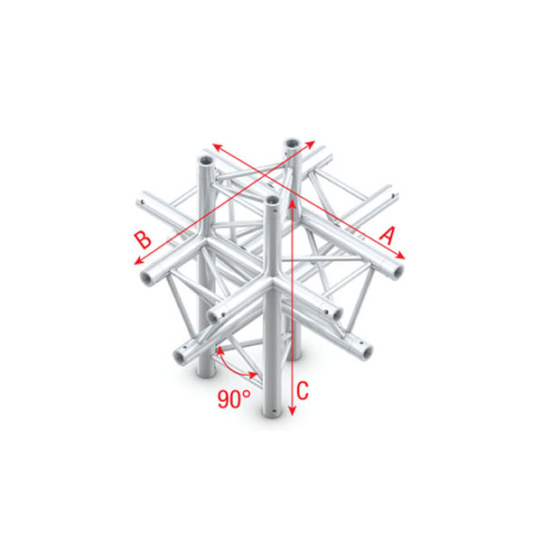 Showtec cross up down 6 way pro 30 triangle f truss for Truss cost estimate