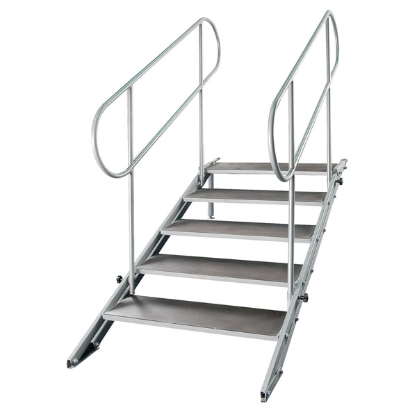 Portable Stage Steps : Showtec prostage portable staging stairs